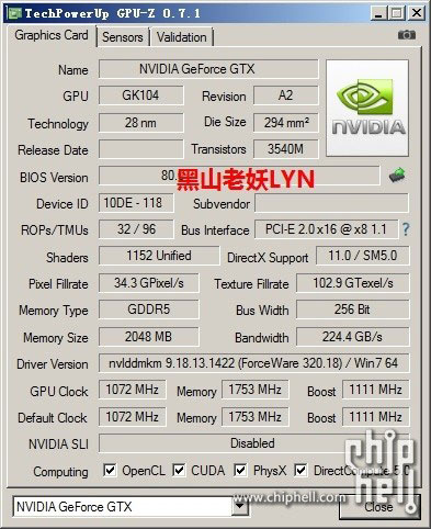 GeForce GTX 760 GPU-Z
