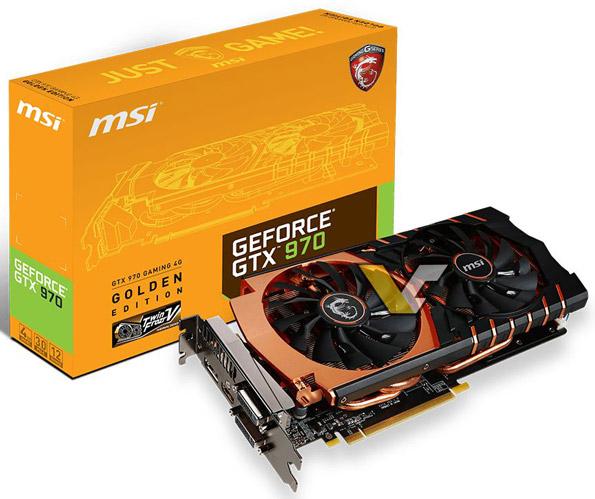 ���������� MSI GeForce GTX 970 Gaming Golden Edition