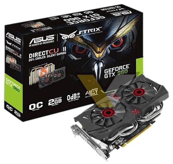 ���������� Asus GeForce GTX 960 Strix