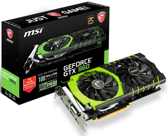 ��������� ���������� MSI GTX 960 100ME