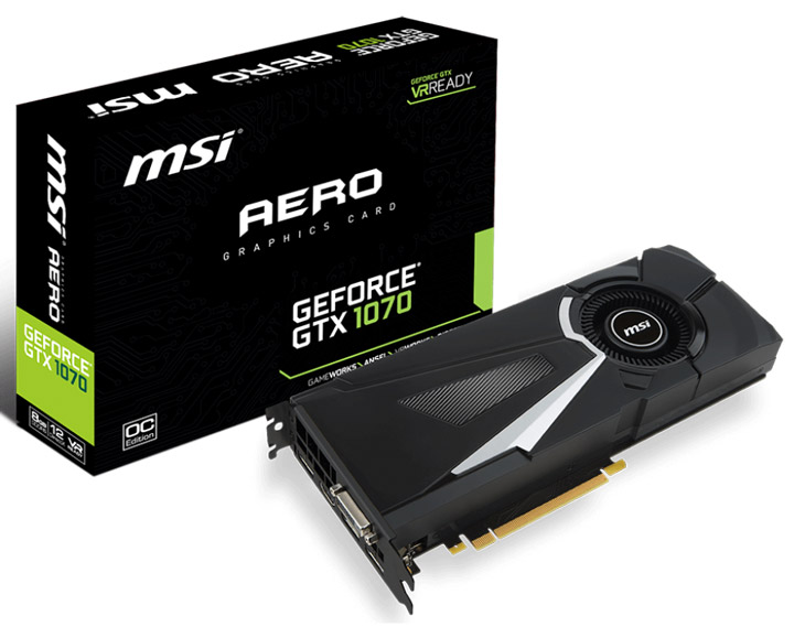 Видеокарта MSI GeForce GTX 1070