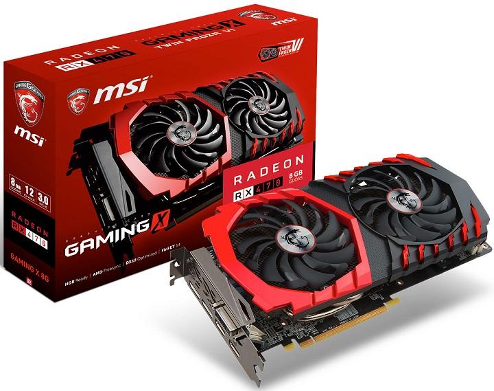 Компания AMD представила видеокарту RadeonRX 470