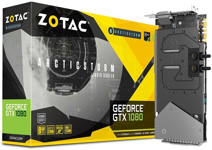 Видеокарту ZOTAC GeForce GTX 1080 ArcticStorm оборудовали водоблоком