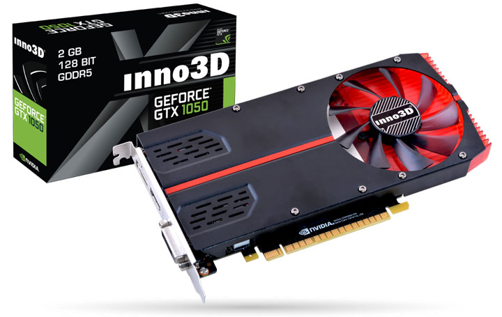 Inno3D представила видеокарту GeForce GTX 1050 Ti