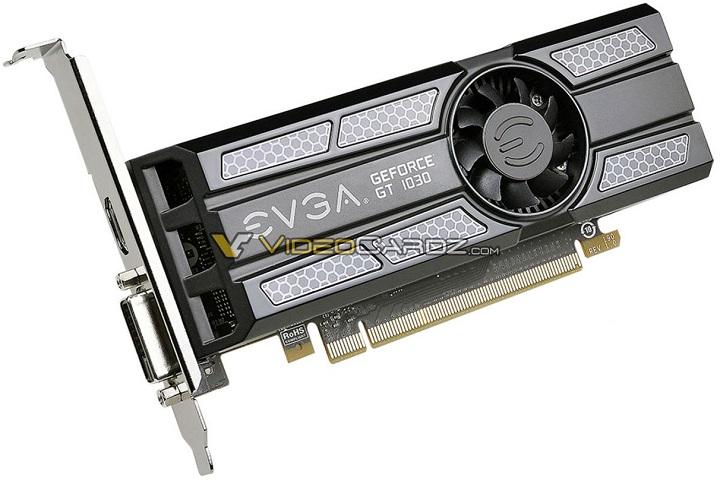 Характеристики видеокарты NVIDIA GeForceGT 1030 засветились накануне анонса