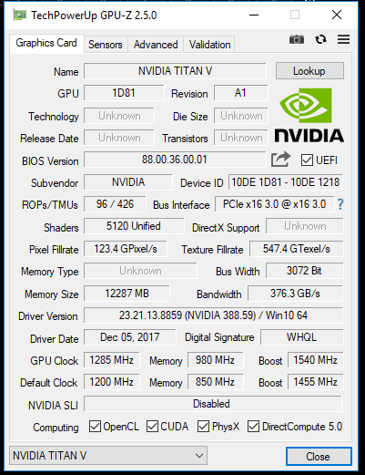 Nvidia TITAN V— очень мощно идорого