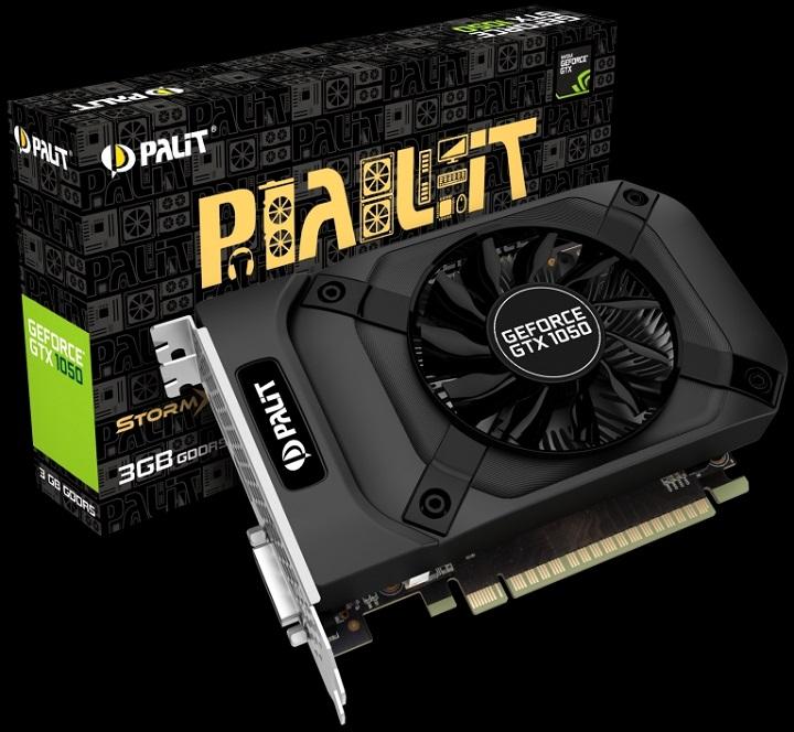 Palit представила видеокарту GeForce GTX 1050 StormX 3GB