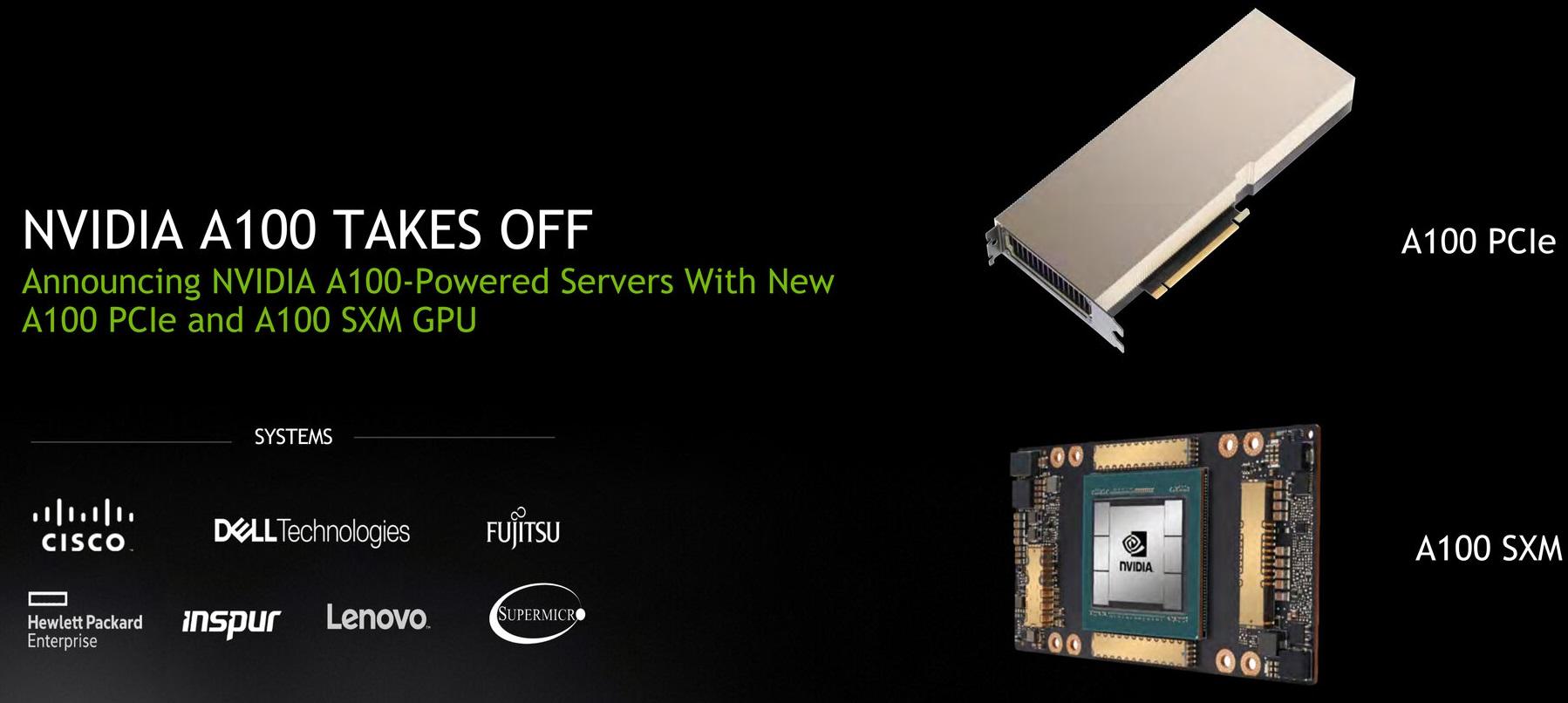 Представлен вариант ускорителя Nvidia A100 с интерфейсом PCI-E 4.0