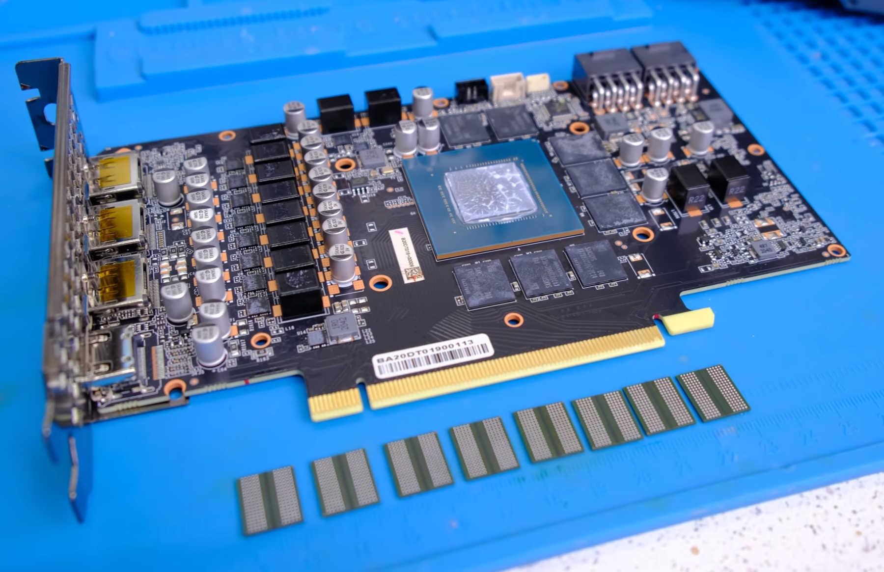 Энтузиаст установил 16 Гбайт видеопамяти GDDR6 на GeForce RTX 3070
