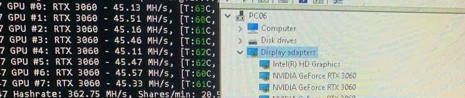 Слух: майнеры из Китая нашли способ, как обойти «крипто-ограничитель» GeForce RTX 3060
