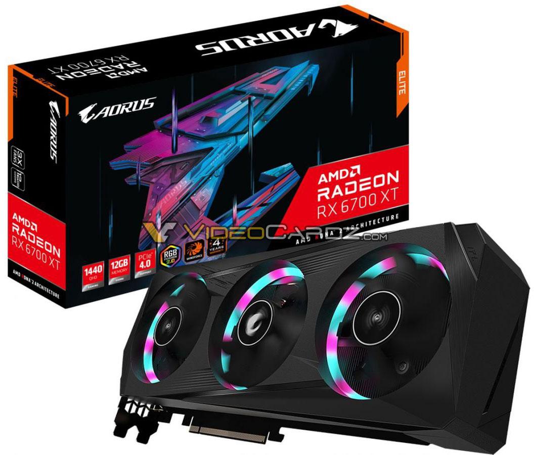 Radeon RX 6700 XT в исполнении Gigabyte Aorus и XFX