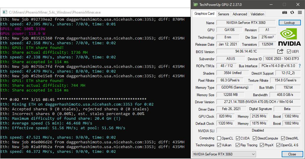 Брешь в обороне: обойти ограничитель майнинга GeForce RTX 3060 помог драйвер для разработчиков (обновлено)