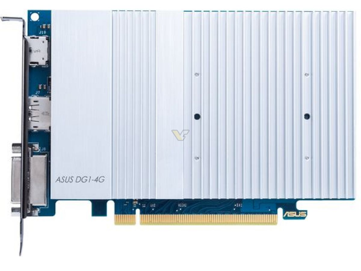 Видеокарта ASUS DG1-4G официально совместима только с двумя платами