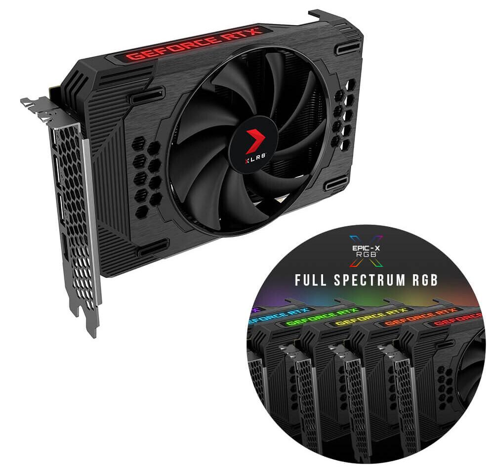 PNY XLR8 GeForce RTX 3060 Revel Epic-X RGB — короткая видеокарта с длинным названием