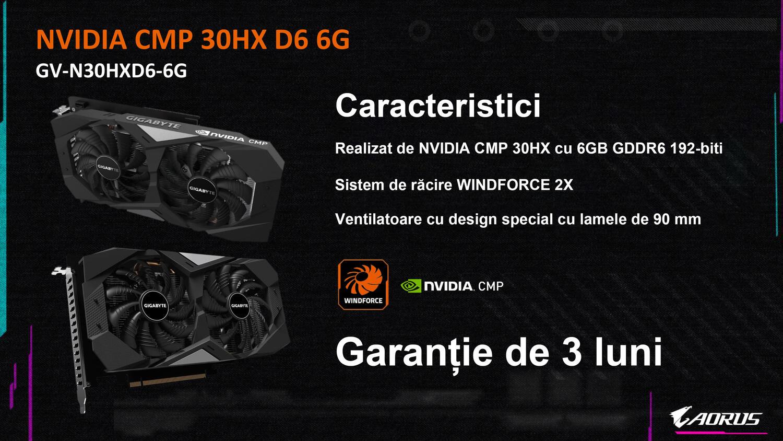 Карты для майнинга Gigabyte CMP 30HX замечены в продаже в Румынии