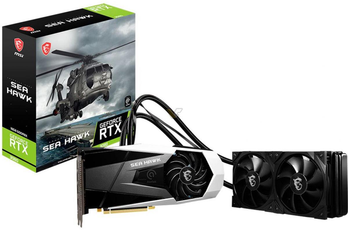 На подходе видеокарта MSI GeForce RTX 3080 Sea Hawk X