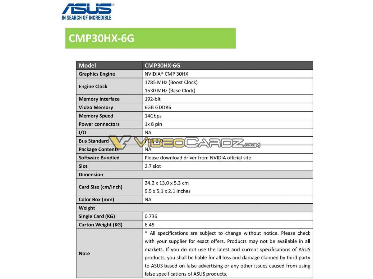 ASUS CMP 30HX