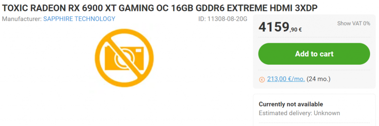 Sapphire Radeon RX 6900 XT Toxic Extreme Edition появилась в Европе с ценой от €2599
