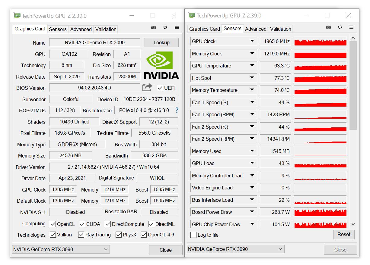 Утилита GPU-Z v2.39.0 обзавелась поддержкой мобильных GeForce RTX 3050 и RTX 3050 Ti