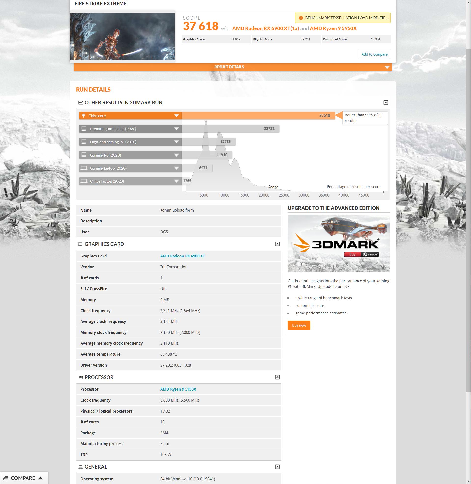 PowerColor Radeon RX 6900 XT Red Devil Ultimate разогнана до рекордных 3321 МГц