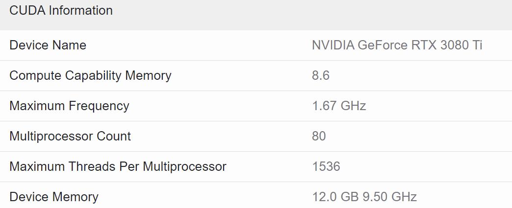 GeForce RTX 3080 Ti не уступает GeForce RTX 3090 в CUDA-тесте Geekbench