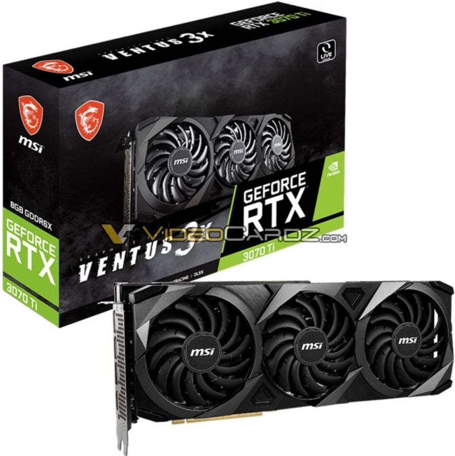 MSI выпустит GeForce RTX 3070 Ti в версиях Ventus 3X OC и Suprim X