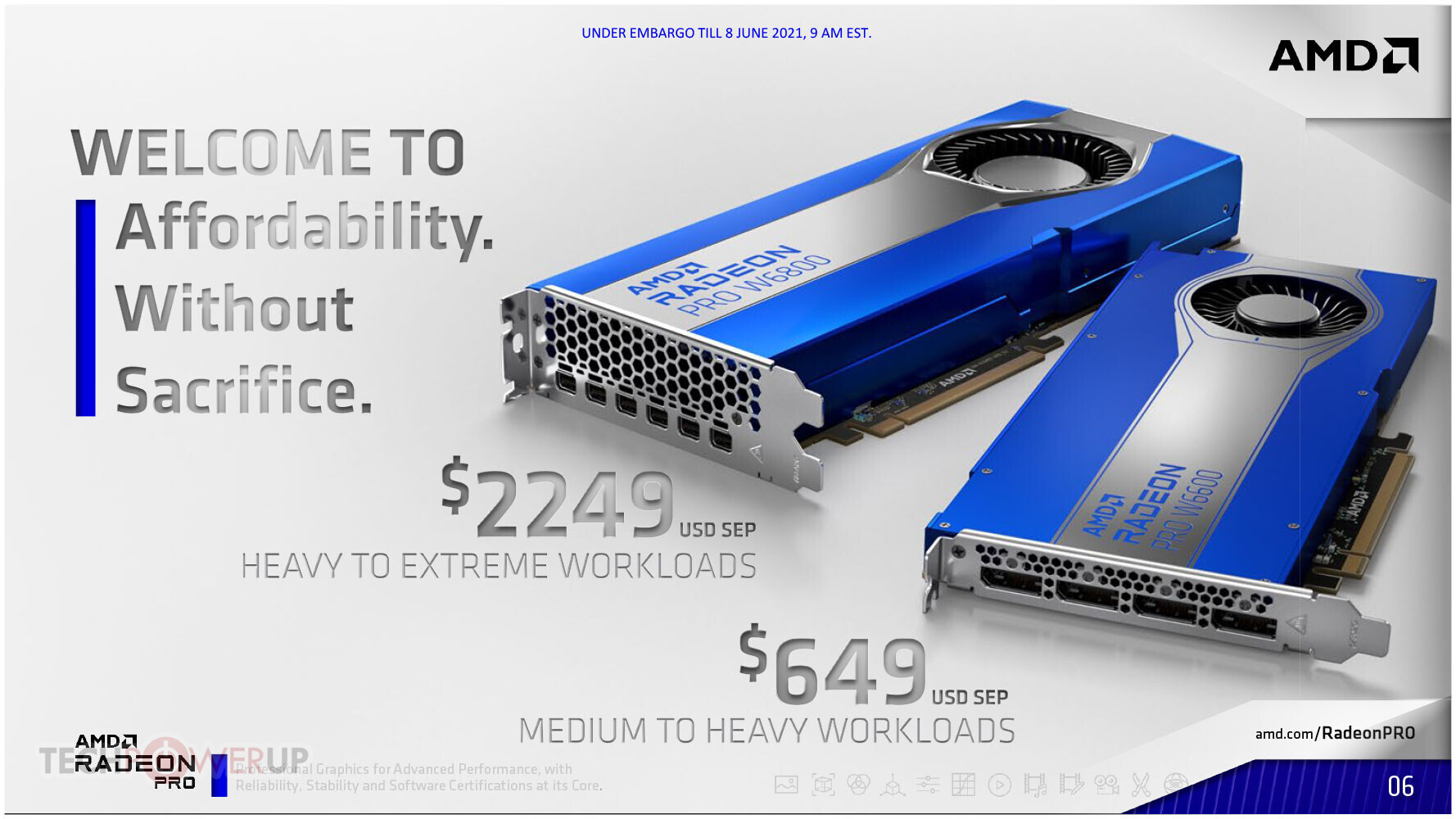 Представлена линейка 3D-ускорителей Radeon Pro W6000 на архитектуре AMD RDNA 2
