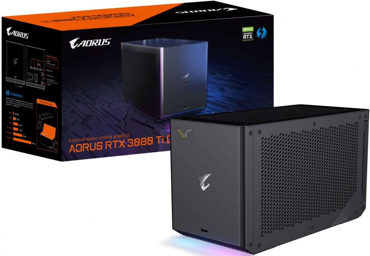 Gigabyte представила внешнюю видеокарту Aorus RTX 3080 Ti Gaming Box