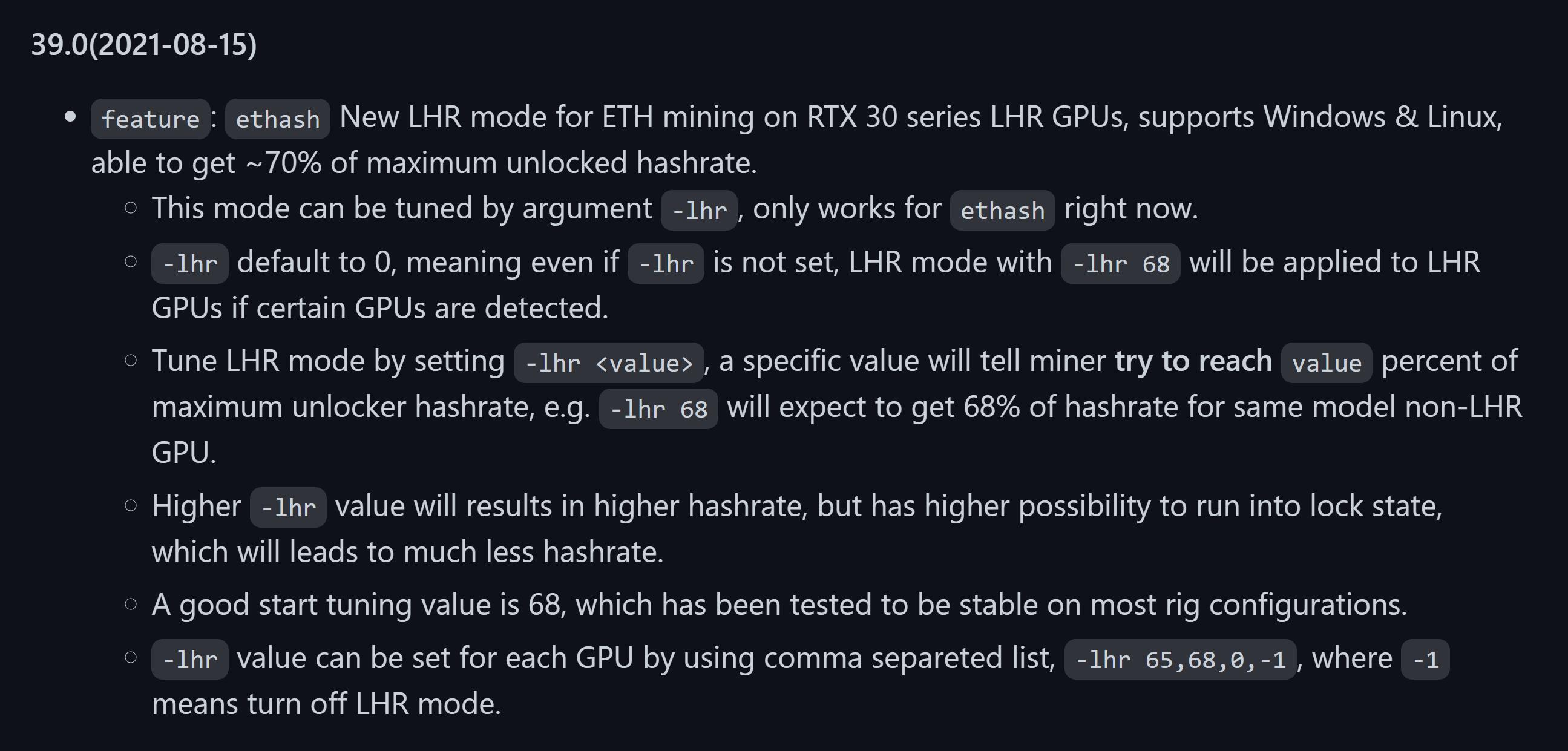 Майнерам удаётся разблокировать до 70% производительности LHR-видеокарт GeForce RTX 3000