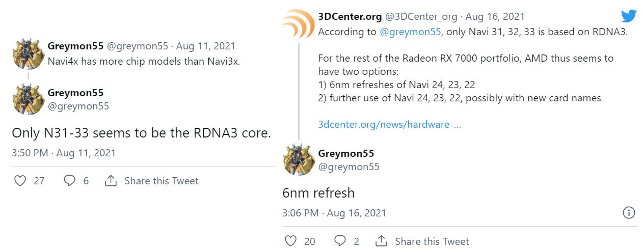 Слух: линейка AMD Radeon RX 7000 будет включать GPU RDNA 3 и обновленные RDNA 2