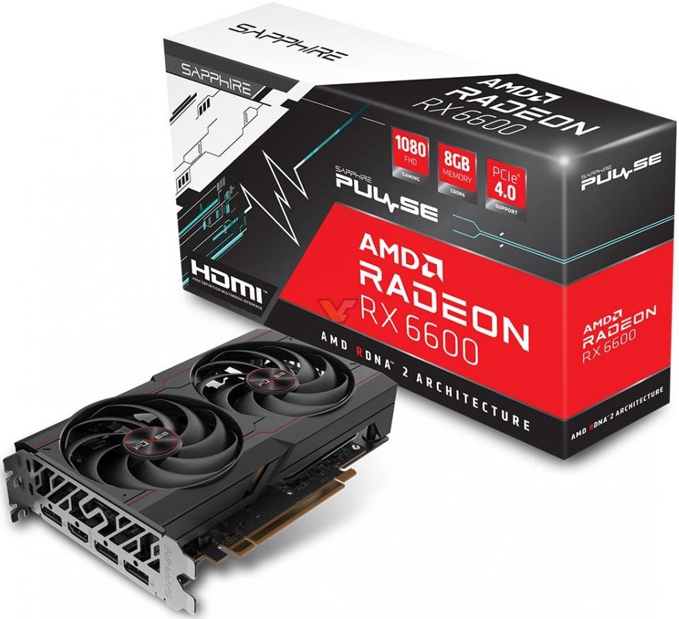 Видеокарта Sapphire Radeon RX 6600 Pulse замечена в онлайн-магазине