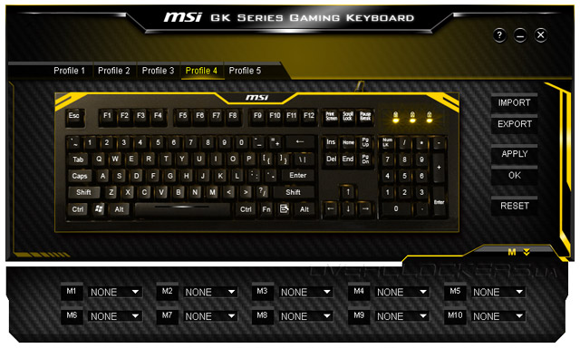 MSI GK Series Gaming Keyboard Config