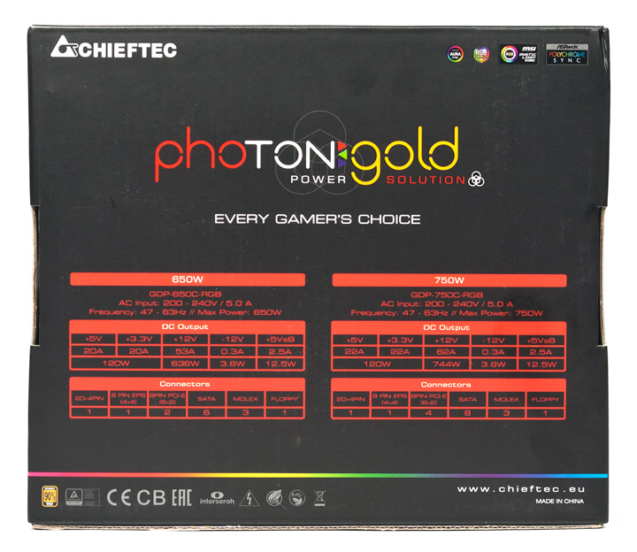 Chieftec Photon Gold 650W (GDP-650C-RGB)