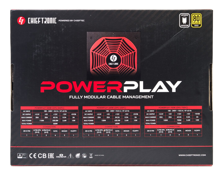 Chieftronic PowerPlay 650W (GPU-650FC)
