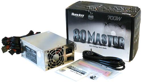 Блок питания Huntkey HK701-11PEP поставляется в крупной коробке, выполненной в черно-белых тонах, на крышке которой...