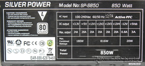 Silver Power SP-S850