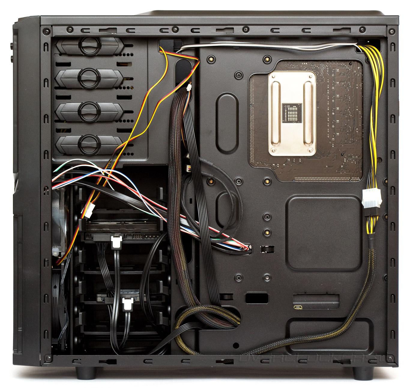 Как уложить провода в системном блоке