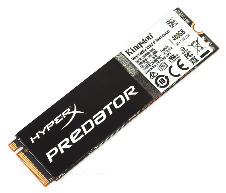 Kingston HyperX Predator PCIe 480GB (SHPM2280P2H/480G)