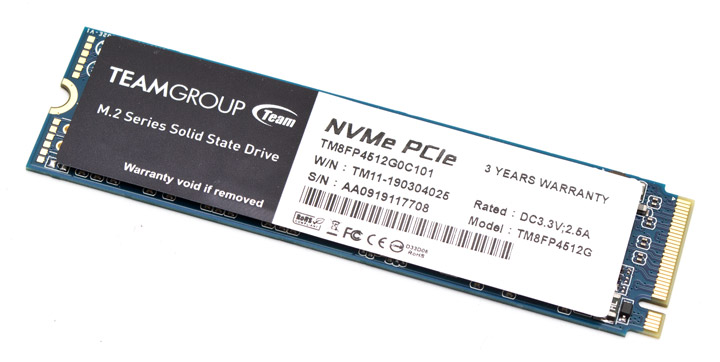 View and test a solid state drive Team MP34 M 2 PCIe SSD with a