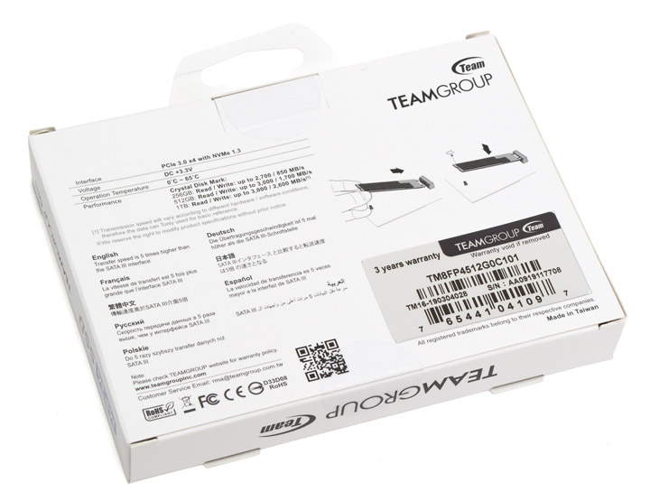 Team MP34 M.2 PCIe SSD 512GB