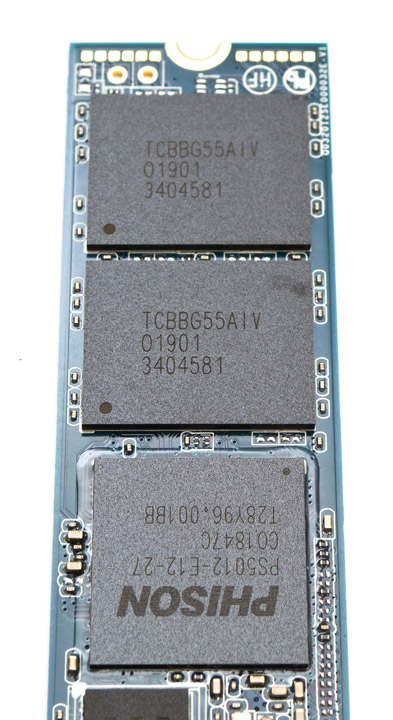 View and test a solid state drive Team MP34 M 2 PCIe SSD