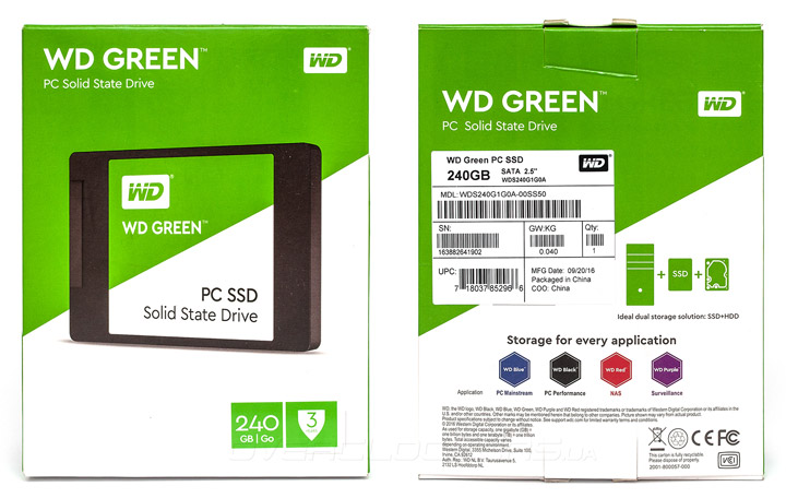 WD Green PC SSD 240GB (WDS240G1G0A)