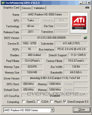 Видеокарта HIS Radeon HD 6570 H657HC1GD