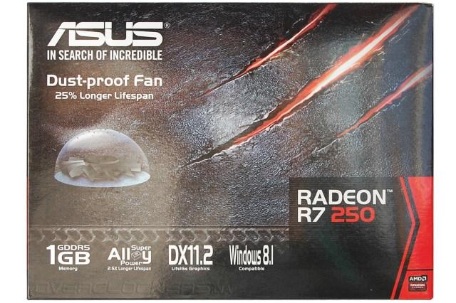 Обзор и тестирование Radeon R7 250 в исполнении ASUS