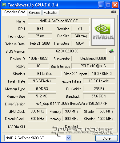 Palit GeForce 9600GT Green 512MB