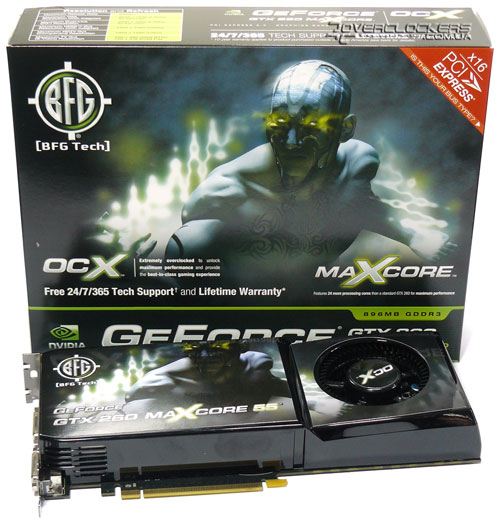 Упаковка BFG GeForce GTX 260 OC2