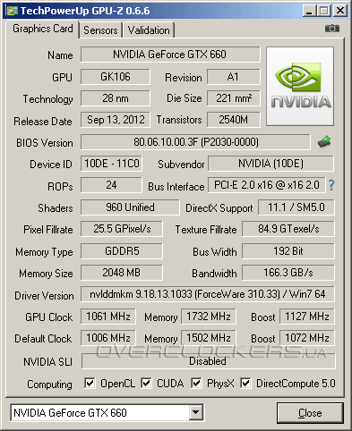 KFA2 GeForce GTX 660 EX OC 2GB