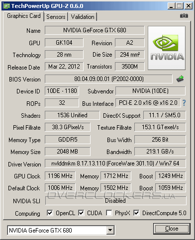 Zotac GeForce GTX 680 (ZT-60601-10P)