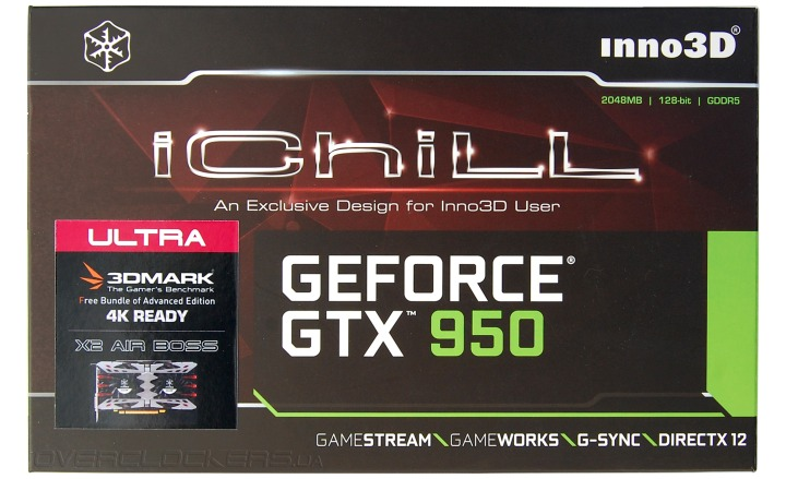 Inno3D iChill GeForce GTX 950 2GB Ultra
