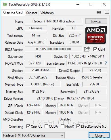Radeon RX 470 8GB против двух версий GeForce GTX 1060  Обзор MSI RX